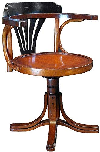 linoows Schreibtisch Stuhl, Wiener Bugholz Kontor Stuhl, Kapitän Stuhl im Marine Stil