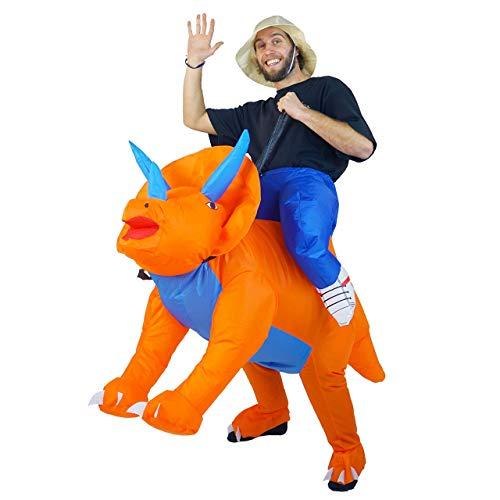 Bodysocks Aufblasbares Triceratops-Dinosaurier-Kostüm