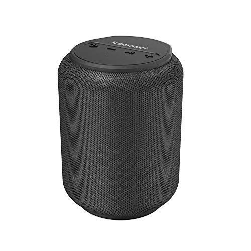 Tronsmart T6 Mini Altavoces Bluetooth 15W, 24 Horas de Reproducción, TWS Sonido Stereo 360°, IPX6 Waterproof, Altavoz portatil Bluetooth 5.0, Apoya TF Card Memoria USB de 64G y Asistente de Voz