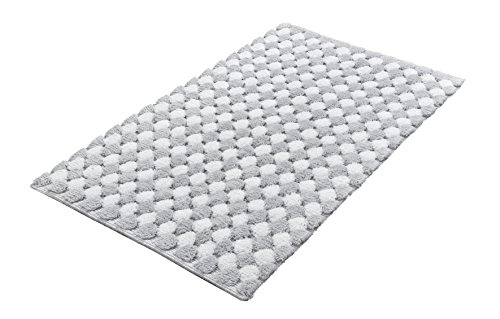 Kleine Wolke Badteppich, Silbergrau, 70 x 120 cm
