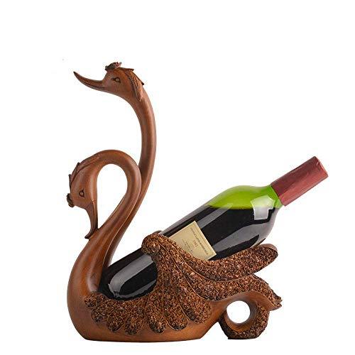 YAeele Decoraciones del Arte del Arte Cisne botellero refrigerador de Vino en casa Carcasa del televisor un diseño práctico Regalo 4