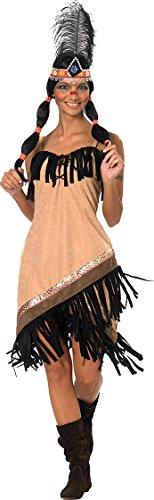 Disfraz de india sexy para mujer, vestido de noche salvaje Oeste
