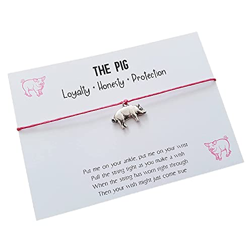 The Pig Wish-lets Wish Bracelet, Friendship Bracelet, Anklet