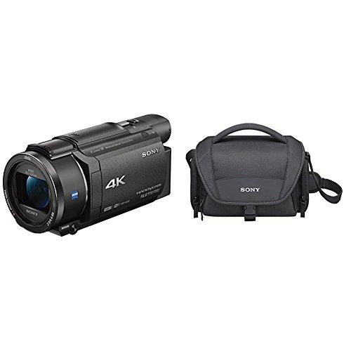 "Sony Handycam FDR-AX53 - Videocámara, Pantalla de 3"", con grabación 4K Ultra HD, Lente Zeiss Vario-Sonnar de 26,8 mm"