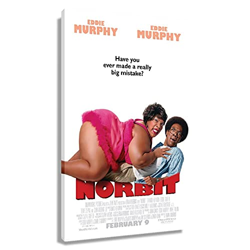 XLJSZBDY Norbit Movie Poster Prints for Wall Decor Paintings Canvas Artwork for Kitchen Printing Pictures for Living Room Giclee Art for Bedroom Decoration Modern Home Office Wall for Bedroom (20x30inch(50x75cm),Framed)
