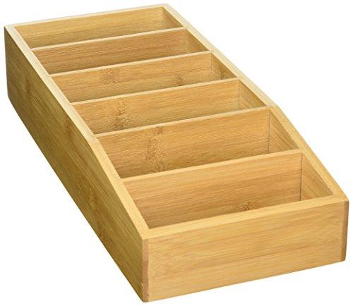 Kesper 70822 Aufbewahrungsbox aus Bambus, Braun, 15 x 5/7 x 35 cm