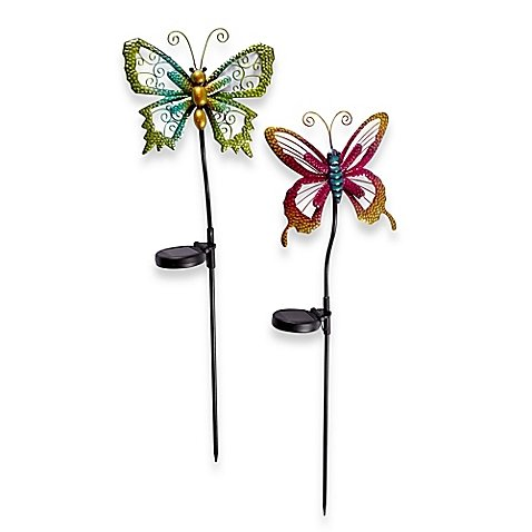 Solar Powered Butterfly Stake Lights