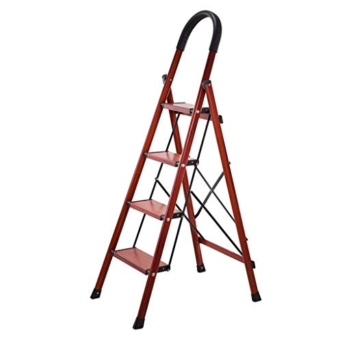 Folding Portable Stepladder, Safety Stepladder Zolder Stepladder Metal Ladder Kledingwinkel Stepladder Warehouse Cargo Ladder (Maat: 49 * 92 * 138CM) XIUYU (Size : 49 * 92 * 138CM)