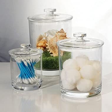 Premium Quality Clear Plastic Apothecary Jars   Set of 3