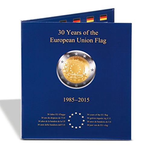 Leuchtturm 347757 Münzalbum PRESSO für 2 Euro Gedenkmünzen| Sammelalbum für die Gemeinschafts-Ausgabe 30 Jahre EU-Flagge | Für alle 23 Münzen