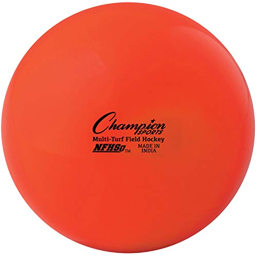 Champion Sports aux Normes approuvés Balles de Hockey sur Gazon–Lot de 12dans de Nombreux Coloris, Field Hockey Balls, Orange - Pack of 12, Orange