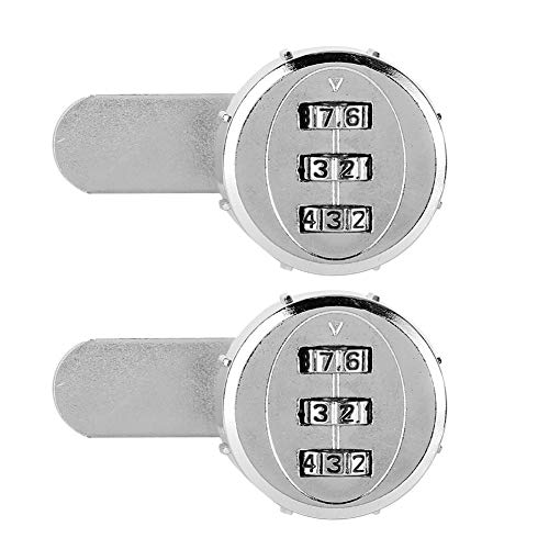 Pelnotac 2pcs Mechanical Code Password Lock,3-Digit Drawers Lock Zinc Alloy Material Locks For Tool Boxes Mailboxes 30mm/1.18in