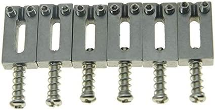Dopro Pack of 6 Stainless Steel Guitar Saddles Bridge Saddle 10.8mm String Spacing for Strat Tele 6 String Guitar