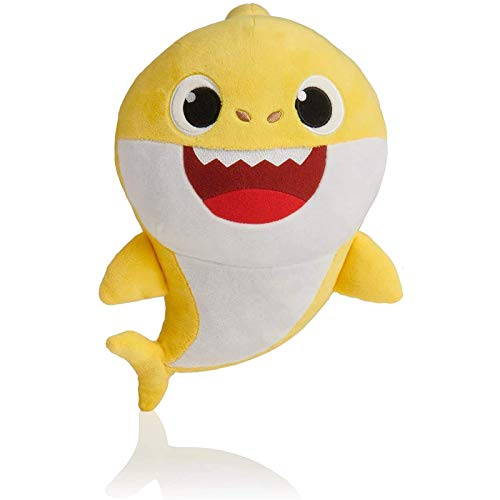 Baby Shark Official Song Doll Baby Shark Peluche de tiburón de juguete con música y luz nocturna Peluche de tiburón cantante