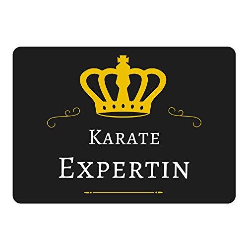 Multifanshop Mousepad Karate Expertin schwarz