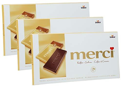 merci Tafel Kaffee-Sahne, 3er Set (3 x 100g Tafeln)