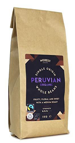 Moreish - Peruvian Organic Fairtrade - Single Origin Coffee Beans - 1kg