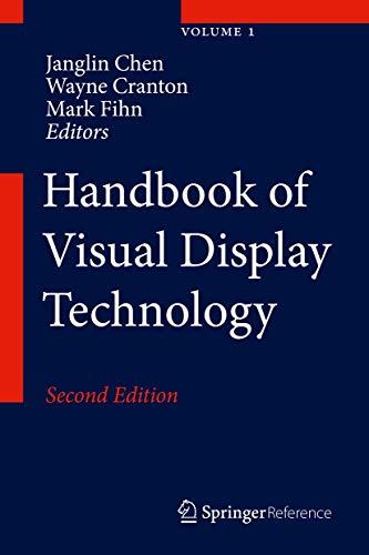 Handbook of Visual Display Technology (Satz von Band 1 bis Band 4 / Volume 1 to 4)