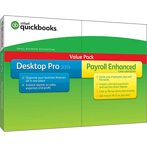 QuickBooks Desktop Pro 2019 with Enhanced Payroll [PC Disc][Old Version]