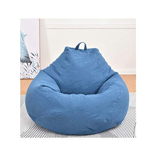 WAJI grote zitzak bankovertrek met 100 * 120cm eenvoudige multi-color stoel ligstoel voor volwassenen en kinderen, slaapkamer en balkon luie lounge stoelen