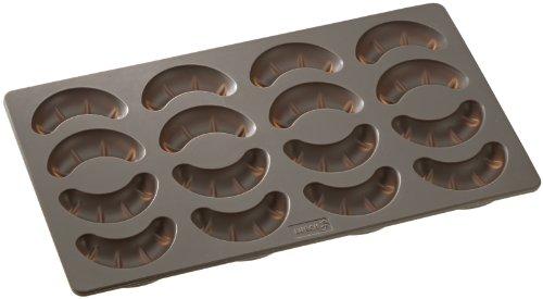 Lurch 65015 Flexiform Moule à Croissants à Vanille Silicone Marron 20 x 15 x 10 cm