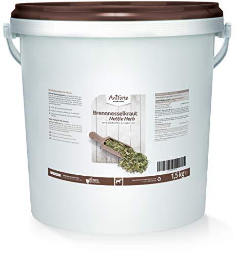 AniForte Brennnesselkraut grob geschnitten für Pferde 1,5 kg – rein pflanzlich, unterstützt die Prostata & Nierenfunktion, regt Entwässerung & Stoffwechel an, Vitamine & Mineralien, Naturprodukt