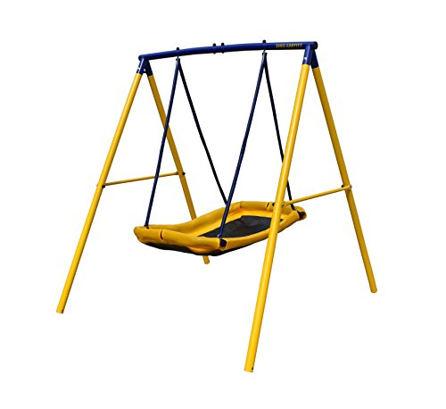 ZERO GRAVITY Magic Carpet Kids Swing Set With Sturdy Metal Frame. Garden Fun For...