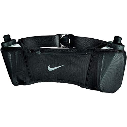 Nike Double Pocket Flask Belt 20OZ 2.O OSFM Black/Black/Silver