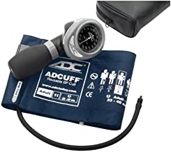 ADC Diagnostix 703 Palm Style Aneroid Sphygmomanometer with Adcuff Nylon Blood Pressure Cuff, Adult, Navy