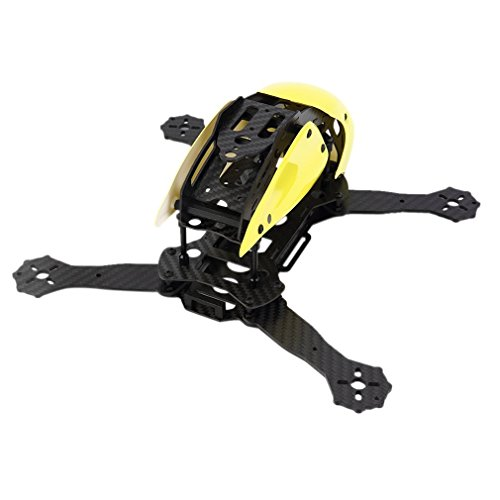 RCmall DIY Robocat Carbon Fiber Frame with Hood Cover 270 4-axis Mini Racing Quadcopter frame Yellow