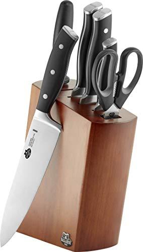 BALLARINI Messerblock, 7-tlg., Holzblock, Messer und Schere aus rostfreiem Spezialstahl/Kunststoff-Griff, Savuto