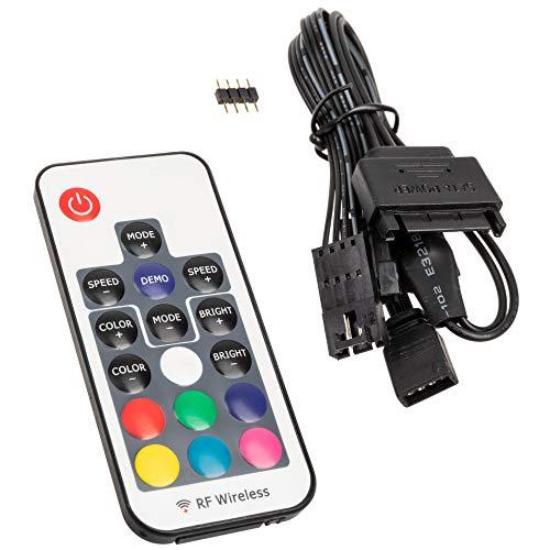 KOLINK Inspire L2 4-Pin 12V ARGB Controller für digital adressierbare RGB-LEDs mit RF-Fernbedienung, SATA (4-Pin)
