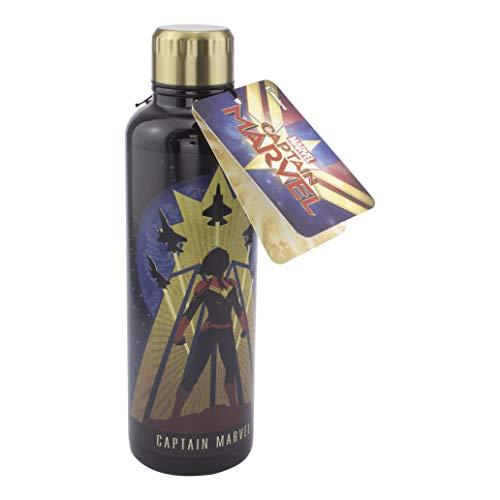 Paladone PP6097CM Botella de Agua metálica Capitana Marvel, Multicolor, 25