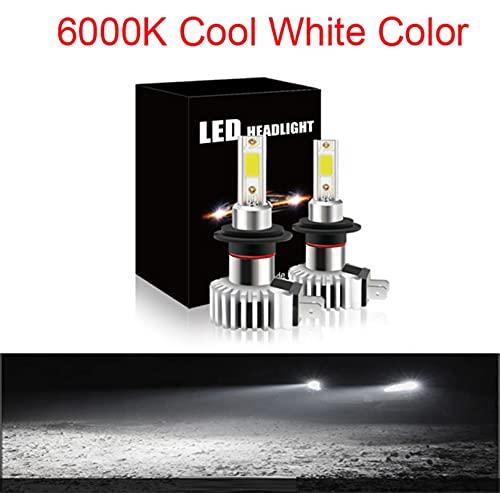 Faros 2 PCS Faro de coche H4 Bombillas LED 80W 12000LM 6000K FOG LIGHT 12V / 24V AUTO AUTO Lámparas de faros blancos Luz de Luz Luz LED xenón ( Emitting Color : 6000K , Socket Type : H8 )