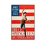 WSDSX Bruce Springsteen And The E Street Poster, Leinwand,