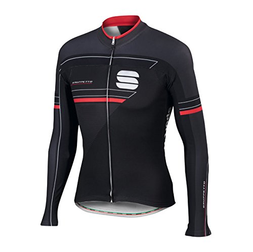 Sportful Gruppetto Jersey, Maglia Ciclismo Maniche Lunghe Uomo, Team Tinkoff (Nero, XL)