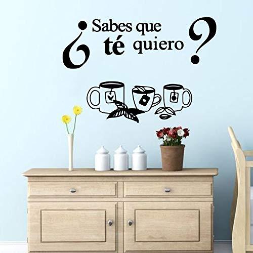Wandaufkleber_Wandbild des spanischen Küchenfreskos Weißt du, welchen Tee ich Will?_64x89cm