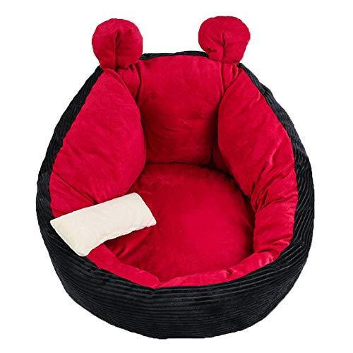 WULIU Cama redonda para mascotas, cama para perros y gatos, cálida, lavable, para perros pequeños, medianos y gatos, cueva de peluche para gatos, gatos y perros