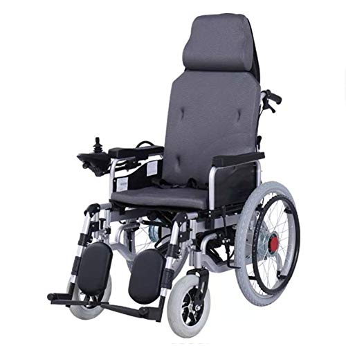 Transport Wheel Chair,Lightweight Wheelchair, Electric Wheelchair - Foldable Lightweight Best Heavy Duty Lithium Battery Electric Power,EABS Intelligent Brake,Manual/Electric Dual Mode Switching for