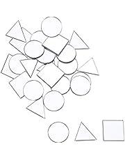 PandaHall Elite ongeveer 150 stks 3 Vormen Craft Spiegels Tegels Glas Spiegel Mozaïek Tegels Zelfklevende Spiegel Muurstickers voor Ambachten Maken Huisdecoratie (Driehoek, Vierkant, Platte Ronde)