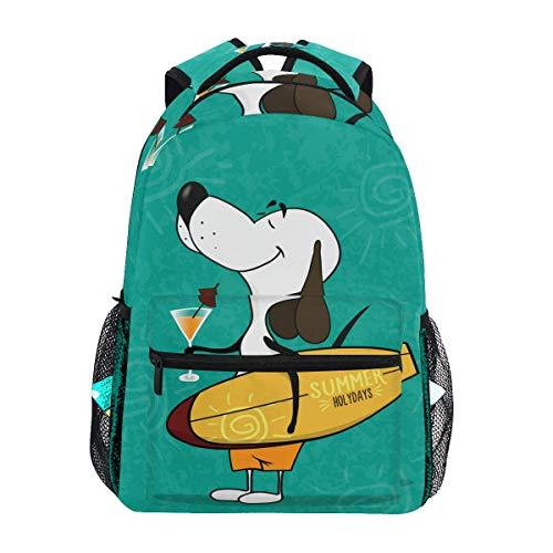 Ahomy Mochila Escolar para Adolescentes y niñas, Mochila de Viaje con diseño de Perro de Dibujos Animados, Bolsa de Senderismo para Mujeres y Hombres