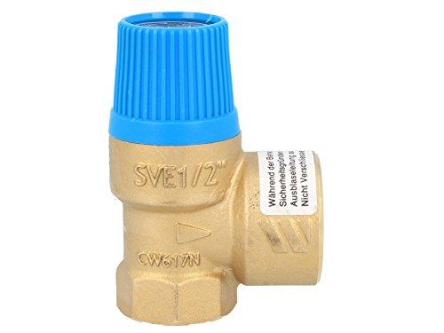 Membran Sicherheitsventil für geschlossene Wasserwärmer nach DIN 4753, 4 bar, bis 75 kW, E 1/2