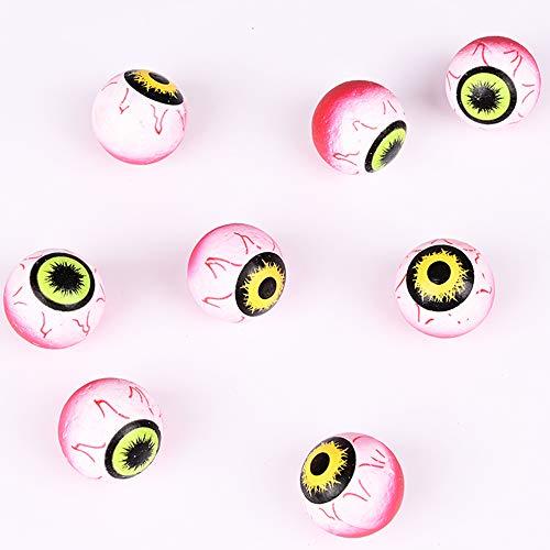 GEAMENT Halloween Eyes 35mm(1.38') - 8Pcs Scary Horror Decoration Big Eyeballs Simulation Props Party Favors