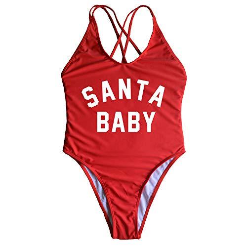 One Piece Swimsuit Santa Baby Thong Bikini Christmas Party Sexy Beachwear