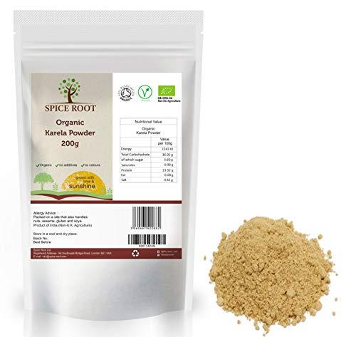 有机苦瓜粉200克(Bio Karela粉)-特优品质,有机认证| 超级食品| 素食主义者| 排毒