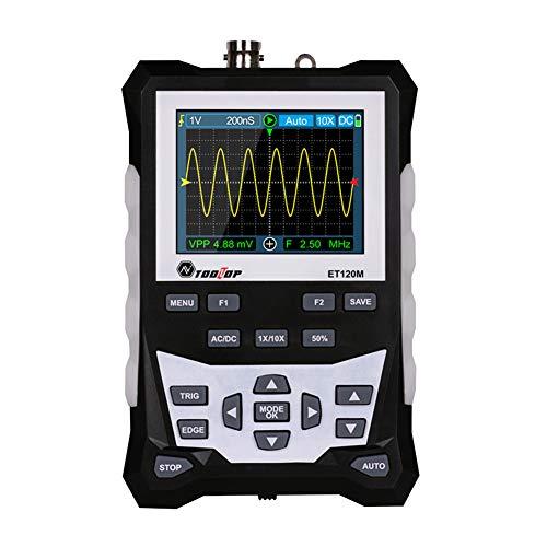 Lindaeshop Osciloscopio analógico de la forma de onda de Digitaces del ancho de banda de 120MHz 500MS/s de la tarifa de muestreo