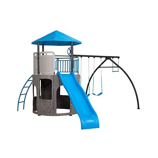 Lifetime 90918 Adventure Tower Playset Swing Set