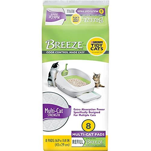 Purina Tidy Cats Cat Litter Accessories, BREEZE Pads Refill Pack Multi Cat Litter - 8 ct. Bag