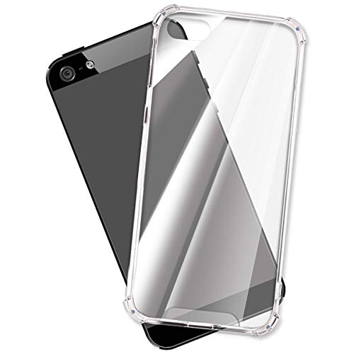 mtb more energy Funda Crystal Armor para Apple iPhone 5, 5S, SE (4.0'') - Tapa Dura & Bordes Suaves - Esquinas reforzadas - Carcasa Anti Shock Cover Case Estuche