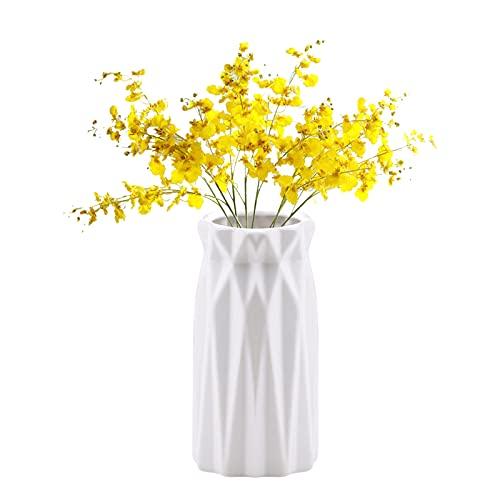 RoxNvm Vaso Geometrico Moderno, Vaso per Fiori, Vaso bianco, vaso decorativo da tavolo geometrico, contenitore di fiori nordici, vaso creativo per soggiorno, ufficio, casa, decorazione di nozze (C)